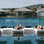 piscine, soleil, mer