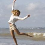 saut, été, mer, vacances